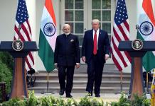 Narendra Modi (L) and Donald Trump (R)