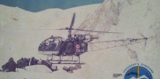 A Cheetah landing at a post called Khanda - the jawans are on the ground, ready to load supplies   AVM Bahadur Shah