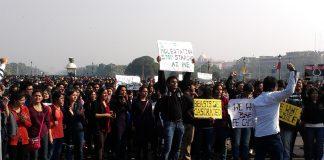 Protesters in New Delh