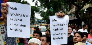 A protest against the recent cases of mob lynching in Kolkata | Swapan Mahapatra/PTI