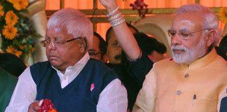 Prime minister Narendera Modi and RJD chief Lalu Prasad Yadav   Ashok Dutta/Hindustan Times via Getty Images