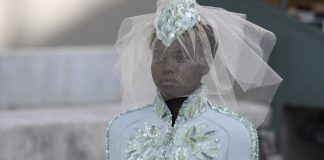 South Sudanese-Australian model Adut Akech presents a creation by Chanel | ALAIN JOCARD/AFP/Getty Images