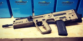 Tavor X95 bullpup is a rifle that has its magazine located behind the pistol grip