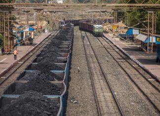 Freight wagons laden with coal sit at the Tori station in Jharkhand | Prashanth Vishwanathan/Bloomberg