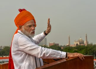 Prime Minister Narendra Modi addressing the nation on the 72nd Independence Day, in New Delhi | PTI