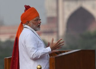 Prime Minister Narendra Modi at Red Fort