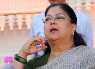 Rajasthan Chief Minister Vasundhara Raje | Vishal Bhatnagar/NurPhoto via Getty Images