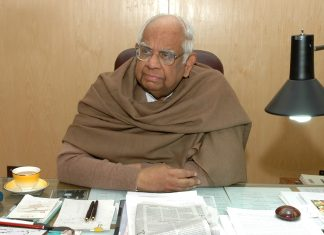 File photo of Somnath Chatterjee at his office in New Delhi, India   Ravi S Sahani/The India Today Group/Getty Images