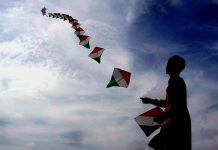 Boy flying kite on Independence Day   Commons