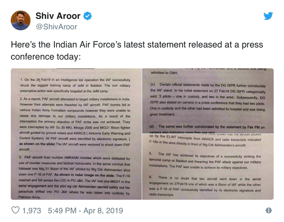 Using Open Source Intelligence (OSINT) to show how IAF's Abhinandan shot down a Pakistani F-16 6