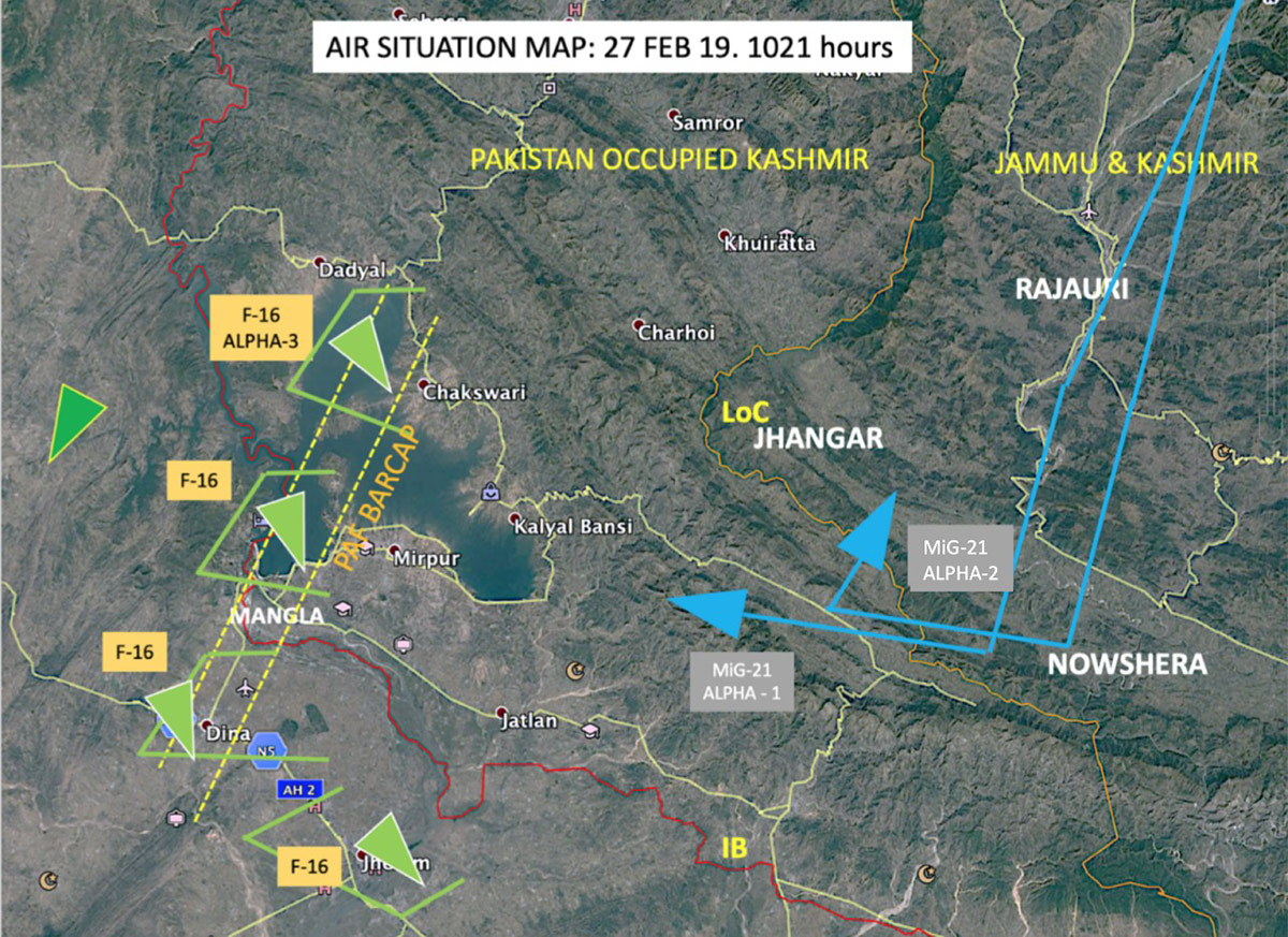 Initial Situation Map based the shared IAF data