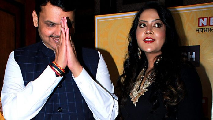 Amruta Fadnavis unsettles Indians used to seeing politicians' wives in the shadows