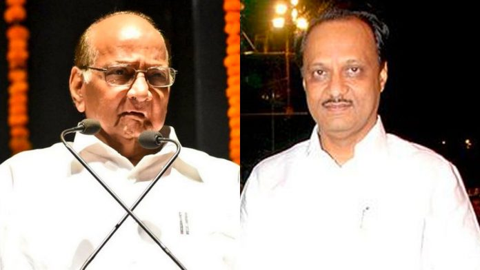 Sharad Pawar & Ajit Pawar face off once again, this time over NCP's new saffron flags