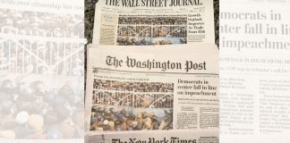 The front pages of Wall Street Journal, Washington Post, and New York Times covering the protests.   Twitter   @RanaAyyub