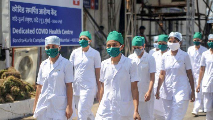 Medical staff at a Covid-19 facility in Mumbai. Representational image. Photo | PTI