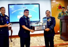 The IAF gifts a model of the Alouette III helicopter to Bangladesh   IAF   Twitter